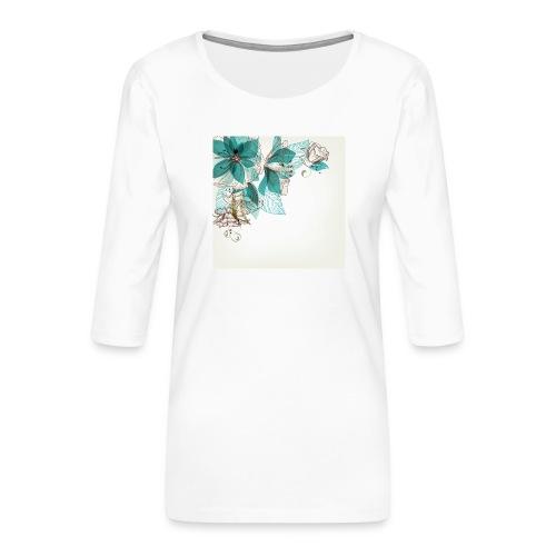 Tropical Flora - Women's Premium 3/4-Sleeve T-Shirt