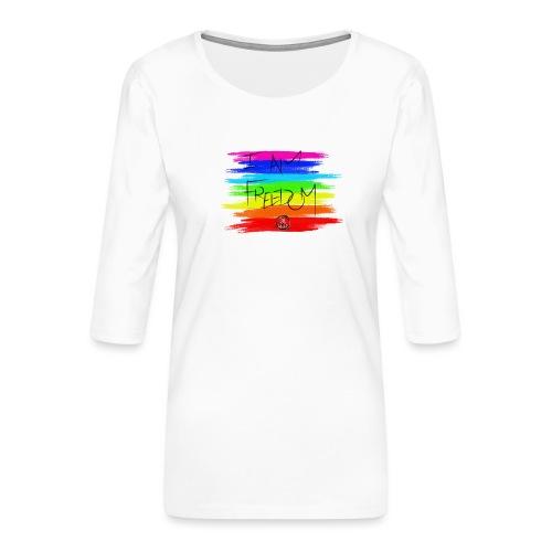 I AM FREEDOM MaitriYoga - T-shirt Premium manches 3/4 Femme