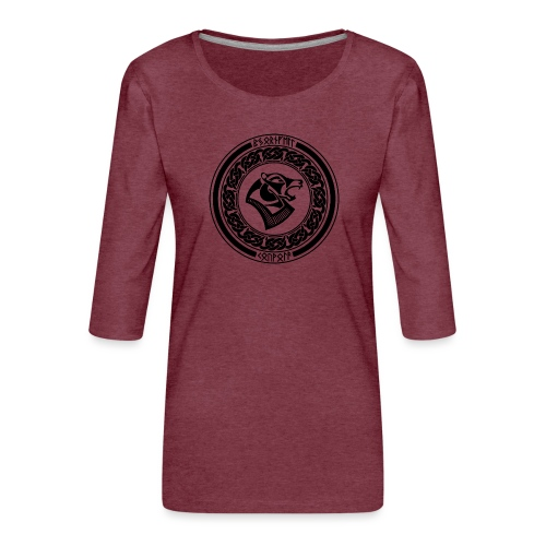 BjornfellRisingBlack - Naisten premium 3/4-hihainen paita