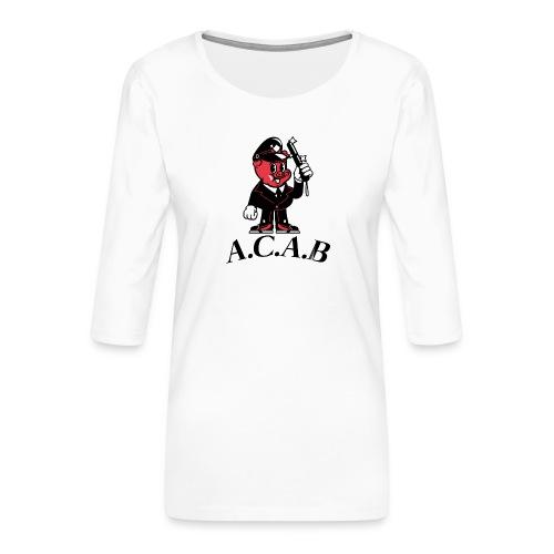 A.C.A.B cochon - T-shirt Premium manches 3/4 Femme