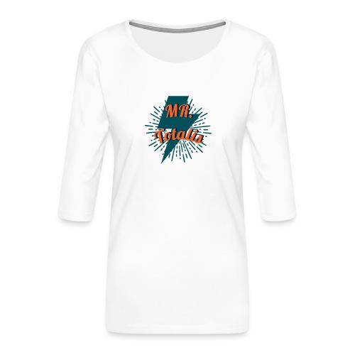 Esempio Logo o Stampa! - Maglietta da donna premium con manica a 3/4