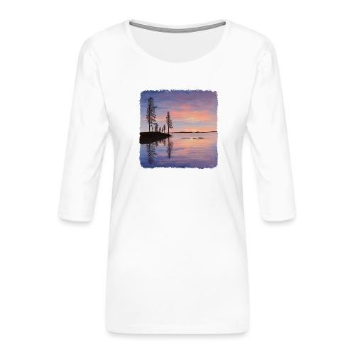 Soirée tranquille - T-shirt Premium manches 3/4 Femme