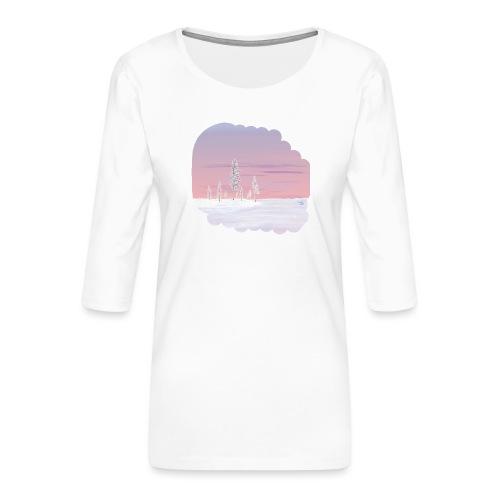 Un printemps précoce - T-shirt Premium manches 3/4 Femme