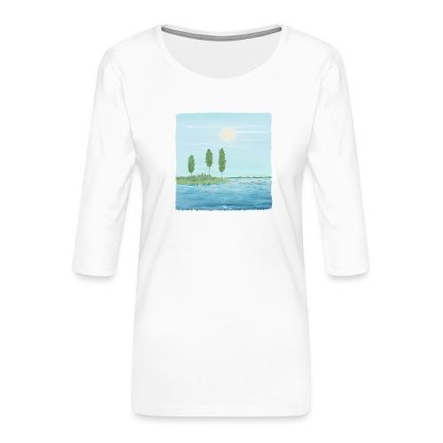 zomertijd - T-shirt Premium manches 3/4 Femme