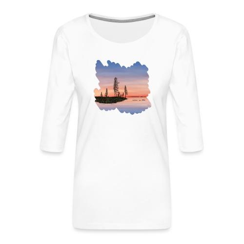 Été en Laponie - T-shirt Premium manches 3/4 Femme