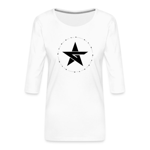 G Y M Time - Women's Premium 3/4-Sleeve T-Shirt