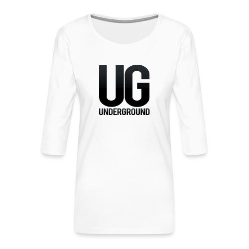 UG underground - Women's Premium 3/4-Sleeve T-Shirt