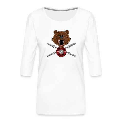 Bear Fury Crossfit - T-shirt Premium manches 3/4 Femme