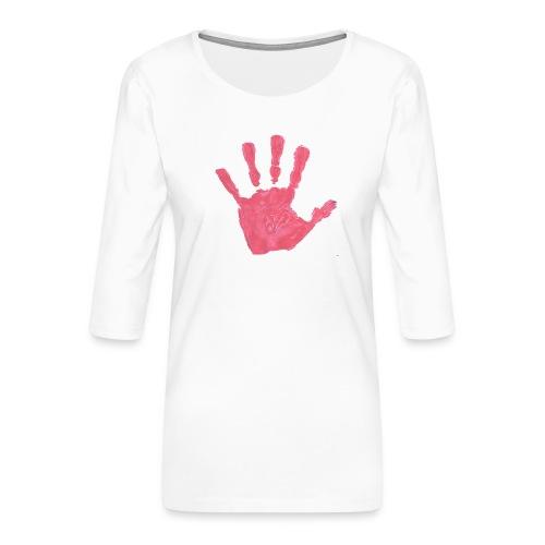Hand - Premium-T-shirt med 3/4-ärm dam