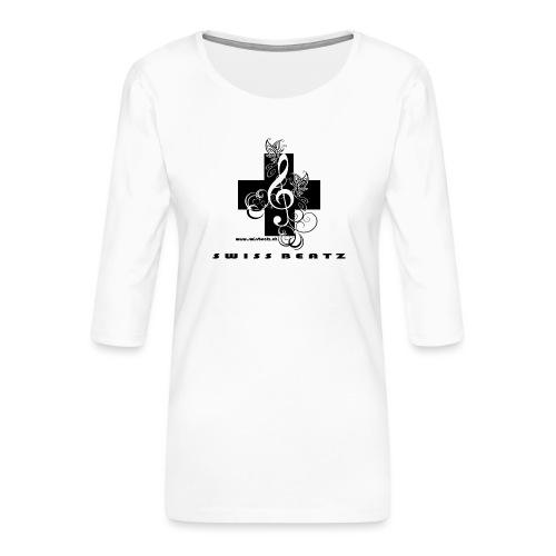 Swiss Beatz Logo with L - Frauen Premium 3/4-Arm Shirt