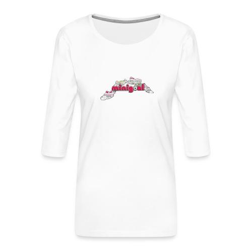 Maglietta Donna Liguria - Maglietta da donna premium con manica a 3/4