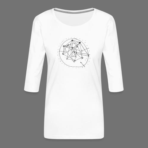 Strategia SEO nr 1 (czarny) - Koszulka damska Premium z rękawem 3/4
