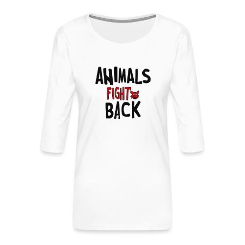 Animals fight back - Maglietta da donna premium con manica a 3/4