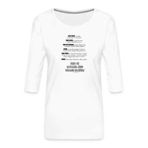 Vero standard Cavalier - Maglietta da donna premium con manica a 3/4