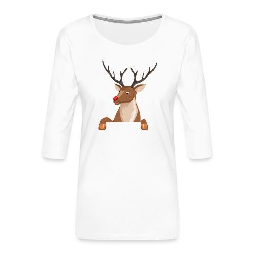 Caribou 6 - T-shirt Premium manches 3/4 Femme