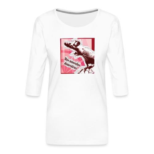 Mus musculus - punainen - Naisten premium 3/4-hihainen paita