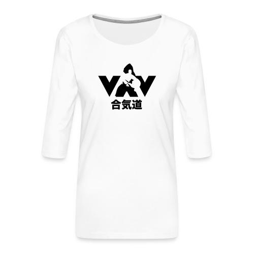 aikido zwart - Vrouwen premium shirt 3/4-mouw