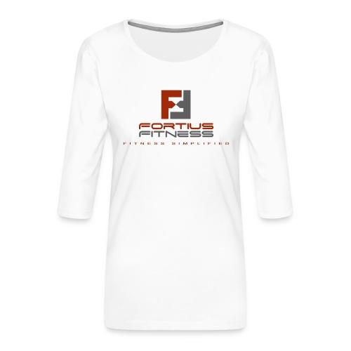 Fortius Fitness - Dame Premium shirt med 3/4-ærmer