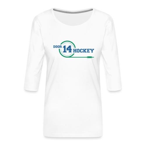 D14 HOCKEY LOGO - Women's Premium 3/4-Sleeve T-Shirt