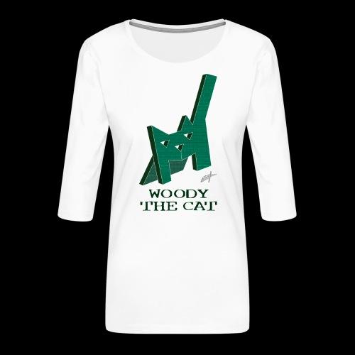 D29 Woody The Cat small LajarinDream - Camiseta premium de manga 3/4 para mujer