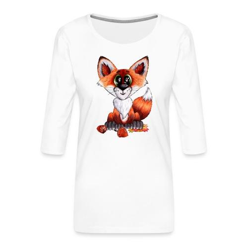 llwynogyn - a little red fox - Naisten premium 3/4-hihainen paita