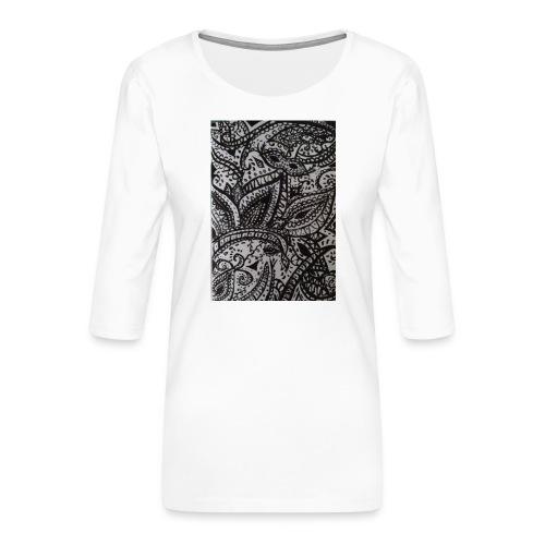 henna - Women's Premium 3/4-Sleeve T-Shirt
