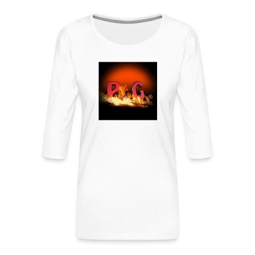 Spilla PanicGamers - Maglietta da donna premium con manica a 3/4
