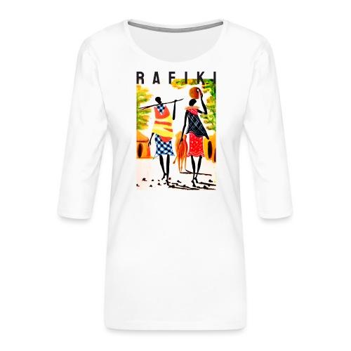 Rafiki = Friend - Dame Premium shirt med 3/4-ærmer