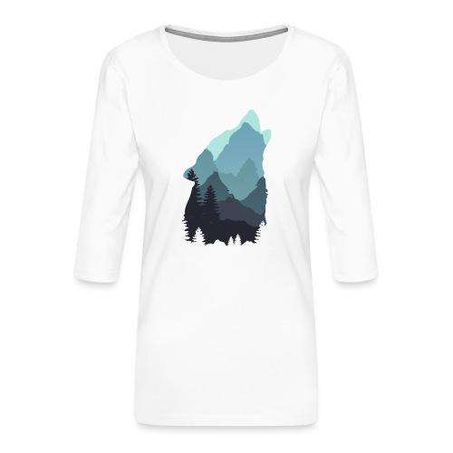 Wolf - Women's Premium 3/4-Sleeve T-Shirt