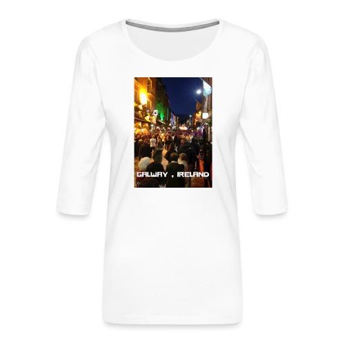 GALWAY IRELAND SHOP STREET - Women's Premium 3/4-Sleeve T-Shirt