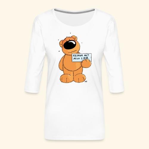 chris bears Keiner hat mich lieb - Frauen Premium 3/4-Arm Shirt