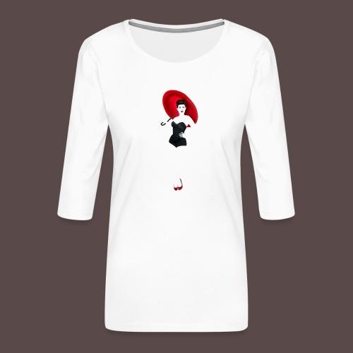 Pin up - Red Umbrella - Maglietta da donna premium con manica a 3/4