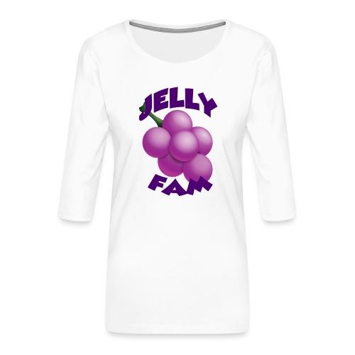 JellySquad - Dame Premium shirt med 3/4-ærmer