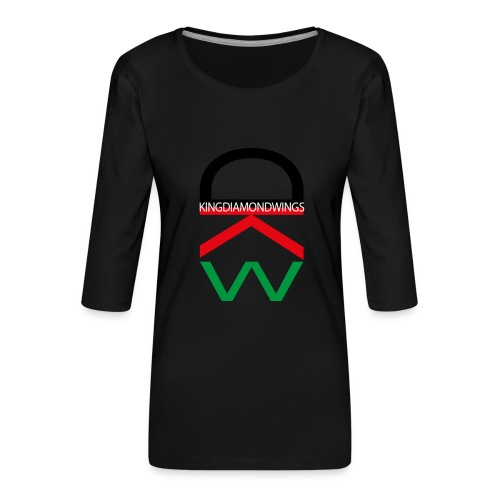 King Diamond Wings Colored Logo - Women's Premium 3/4-Sleeve T-Shirt