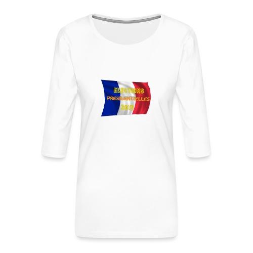 ELECTIONS 2017 - T-shirt Premium manches 3/4 Femme
