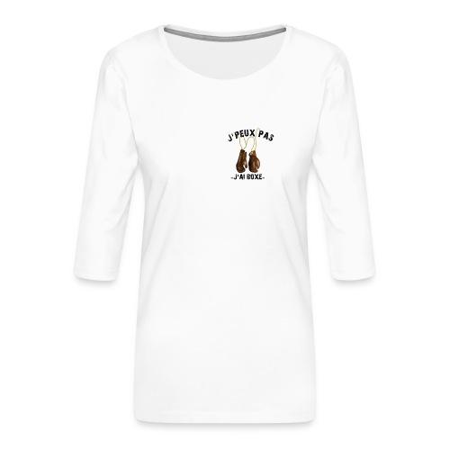J'peux pas j'ai boxe ! - T-shirt Premium manches 3/4 Femme