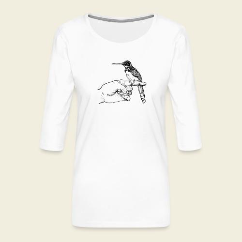 Kolibri Hand - Frauen Premium 3/4-Arm Shirt
