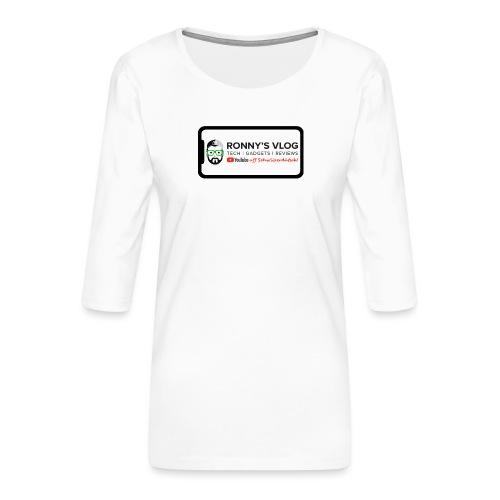 iPhone X by Ronny's Vlog - Frauen Premium 3/4-Arm Shirt