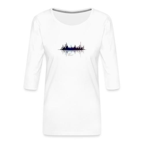 Paris city of light - T-shirt Premium manches 3/4 Femme