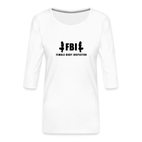 FBI - Frauen Premium 3/4-Arm Shirt