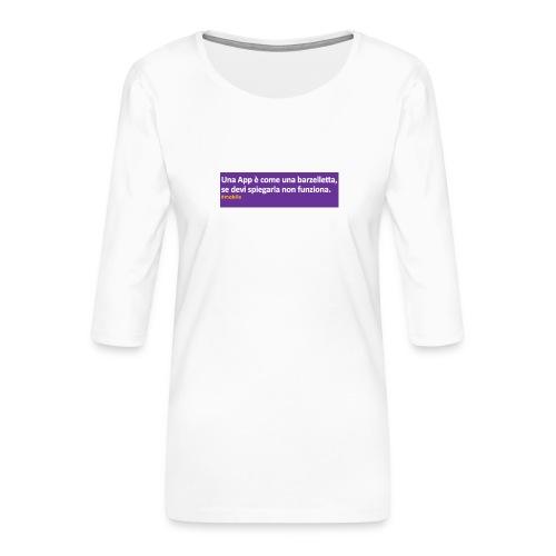 barzelletta - Maglietta da donna premium con manica a 3/4