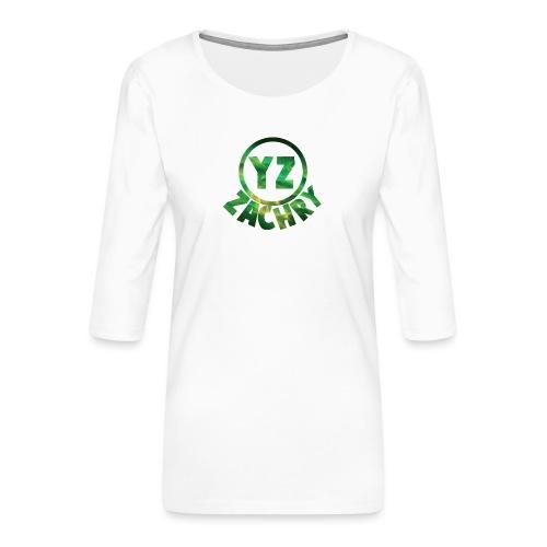 YZ-Button - Vrouwen premium shirt 3/4-mouw