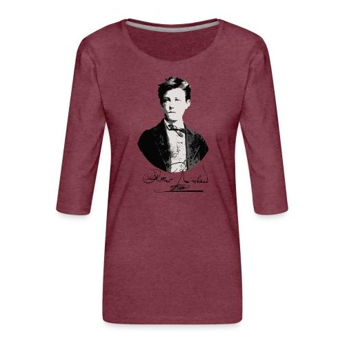 Rimbaud+signature.png - T-shirt Premium manches 3/4 Femme