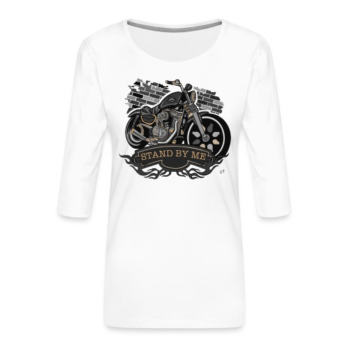 moto - Maglietta da donna premium con manica a 3/4