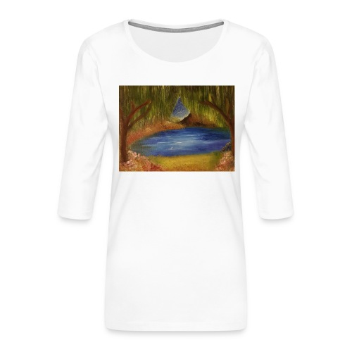 hop1 - Women's Premium 3/4-Sleeve T-Shirt