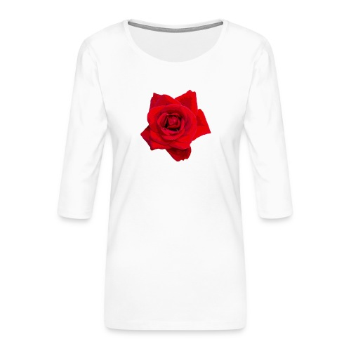 Red Roses - Koszulka damska Premium z rękawem 3/4