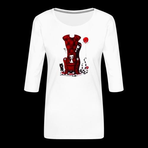 Cruelle petite fille - T-shirt Premium manches 3/4 Femme