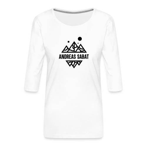 sabat logo black - Dame Premium shirt med 3/4-ærmer