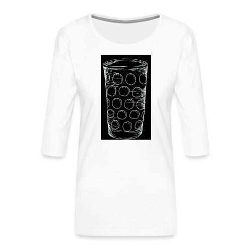Leergut Dubbeglas -schwarz - Frauen Premium 3/4-Arm Shirt