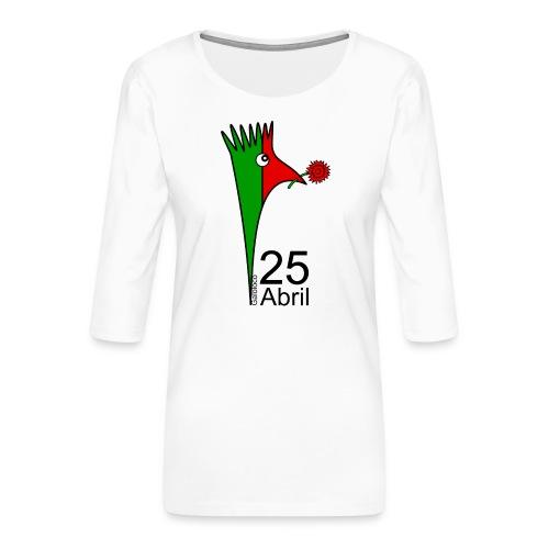 Galoloco - 25 Abril - T-shirt Premium manches 3/4 Femme